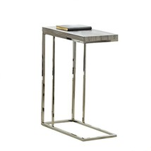 """Steve Silver Company Lucia Chairside End Table, 10"""" x 18"""" x 25"""", Grey"""