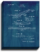 Fishing Lure Patent Print Midnight Blue on Canvas - $39.95+