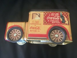 Coca Cola (1996) Brand Tin Shaped Antique Trucks Mkt Doug 7800 w/Moving Wheels - $7.85