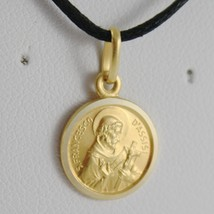 SOLID 18K YELLOW GOLD ST SAINT FRANCIS FRANCESCO ASSISI MEDAL MADE IN ITALY - $138.00+