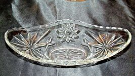 Heavy Etched Cut Glass Banana Bowls (PAIR) AA20-CD0061 Vintage image 6