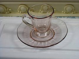 Vintage Fostoria Fairfax Orchid Demitasse Cup and Saucer, After Dinner C... - $19.99