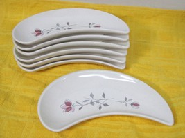 Franciscan Duet 1956-1961 Crescent Salad Plate Pink Rose Design 2 Back M... - $29.69