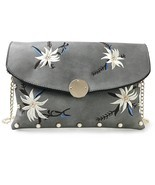 Vintage Beaded And Floral Embroidered Clutch Bags (Grey) - $52.72