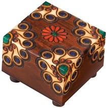 Polish Handmade Wooden Floral Secret Trick Puzzle Box Secret Opening Kee... - $34.64