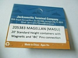 Jacksonville Terminal Company # 205383 MAGELLAN (MAGU) 20' Standard Container image 4