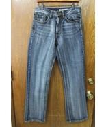 M3680 Mens DKNY JEANS Brooklyn Straight Leg Blue Denim JEANS Pants 29x32 - $17.35