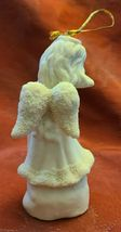 Vintage Angel Playing Flute Ornament 5 Inches Bisque Porcelain image 4