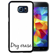 Dry Erase Case Fits Samsung S10 S9 S8 S7 Plus Edge Rubber Cover - $13.98