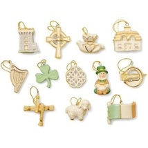 Lenox Luck Of The Irish Miniature Tree Ornaments Set of 12 St Patrick's ... - $79.49
