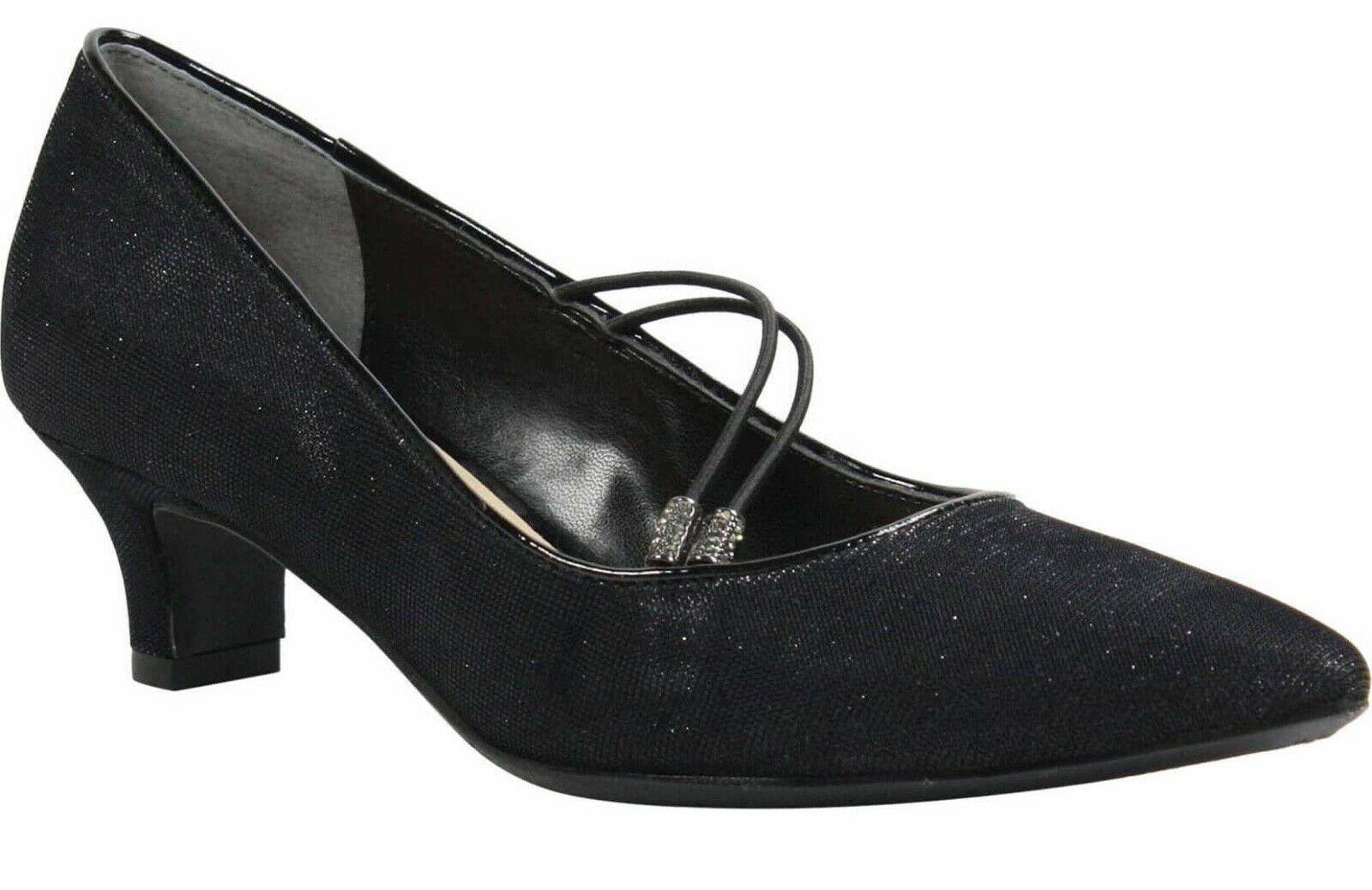Womens J. Renee Idenah Pumps - Fabric Glitter Black Size 10 - $69.99