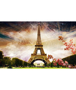 Fireworks in Paris  Home Decor Canvas Print, choose your size. - $5.63+
