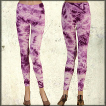 Rock Punk Rave Goth Club Yoga Sport Womens Stretch Leggings Pants Purple... - $14.24