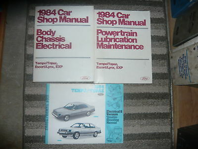 Primary image for 1984 FORD TEMPO MERCURY TOPAZ Service Shop Repair Manual Set FACTORY W EWD NICE