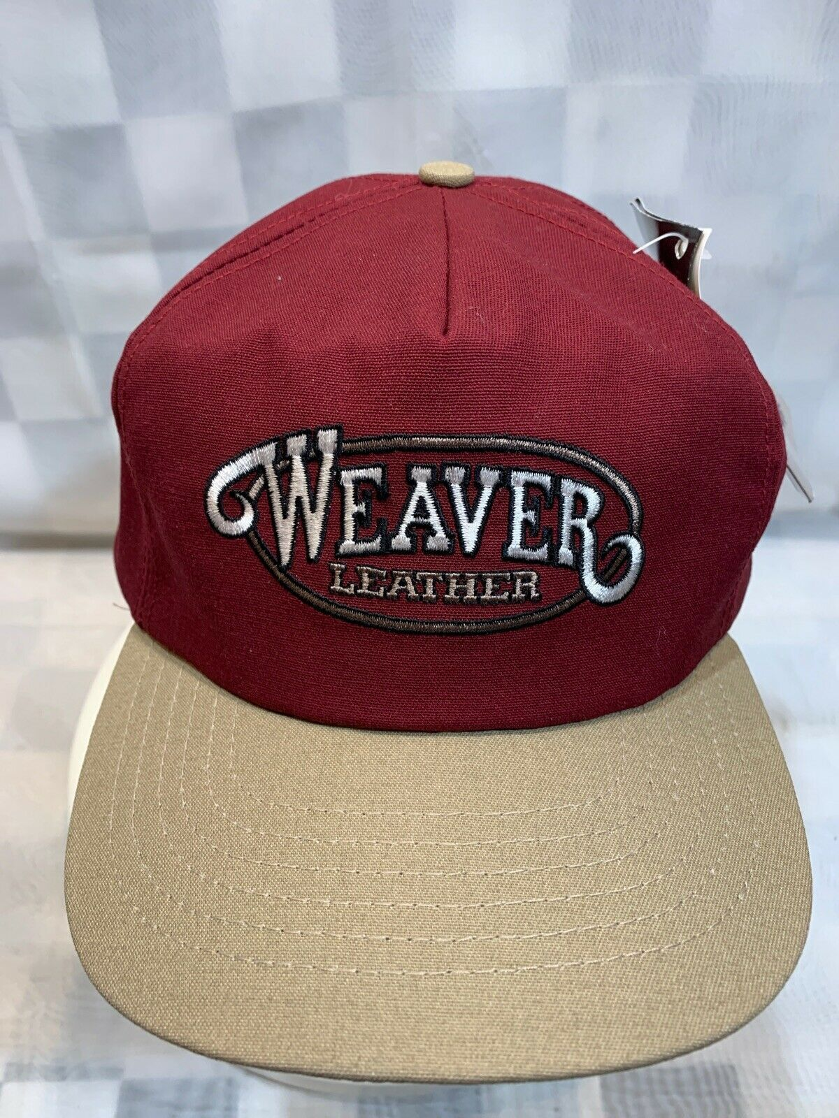 Primary image for WEAVER Leather VTG Made in USA Adjustable Adult Ball Cap Hat NEW NWT