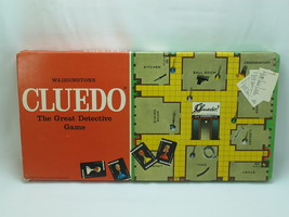 Cluedo 1972 Board Game The Great Detective Game Waddingtons 100% Complet... - $29.99
