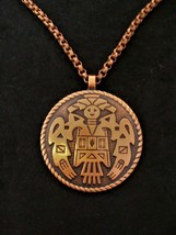 VTG Solid Copper Bell Trading Post Native American Kachina Doll 20 in Necklace 1 - $39.59