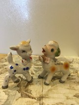 Vintage Anthropomorphic Spotted Deer Figurine Kitsch Goat Figurine Made ... - $14.00