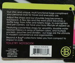 GANZ Brand Beyond a Bag BB224 Raven Color Toiletry Notebook  Organizer image 11