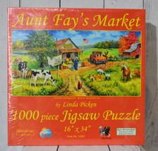 Aunt Fays Market 1000 Piece Jigsaw Puzzle By Linda Picken Sunsout Item N... - $19.75