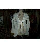 DEBBIE KATZ  South Beach Lovely  White Tie Frontal Blouse Size S - $13.86