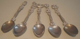 "4"" Antique  Italian Silverplate Demitasse Spoons - $35.63"