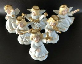 Bronson Collectibles Set of 6 Golden Halos Collection Angel Figurines (1... - $32.66