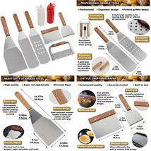 T 8Pc Professional Bbq Griddle Accessories Kit In Gift Box - Heavy Duty ... - $19.79+