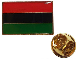 Afro American Country Flag Rectangle Motorcycle Bike Hat Cap Lapel Pin - $8.88