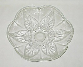 Anchor Hocking Renaissance Pattern Clear 8-inch Footed Bowl - $9.85
