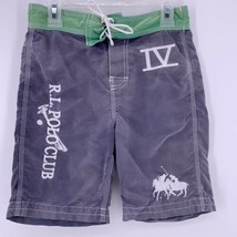 Polo Ralph Lauren Boys Swim Trunks RARE Double Pony R.L. Polo Club IV Size 6 - $14.80