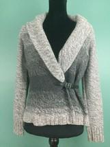 Ann Taylor Loft Women's Buckle Waist Cardigan Sweater - Size Small - Gra... - $18.97