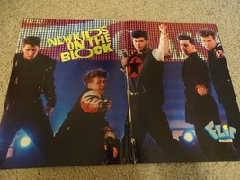 New Kids on the block teen magazine poster clipping pointing Joey Mcinty... - $4.00