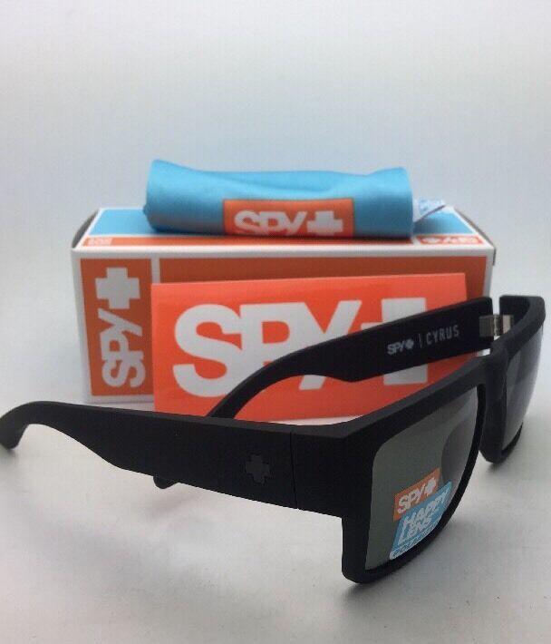Polarisiert Spy Optic Sonnenbrille Cyrus Weich Matt Schwarz Rahmen W / Happy image 6