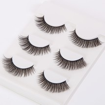 3Pair Long False Eyelashes 3D Thick Natural Fake Eyelash Voluminous Makeup for W - $17.17