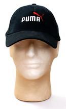 Puma Black Logo Stretch Fitted Cap Hat Adult S/M Small Medium  NWT - $25.98