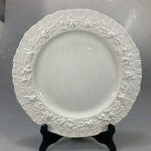 "Wedgwood Queensware Embossed Cream Grapevine Dinner Plate 10.5"" Shell Edge  - $27.93"