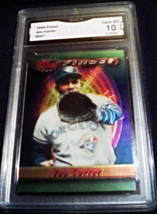1994 Topps Finest Joe Carter GMA Graded 10 GEM MINT Baseball Card Number 207 - $8.99