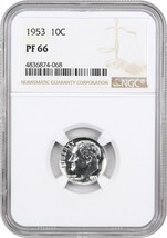 1953 10c NGC PR 66 - Roosevelt Dime - $43.65