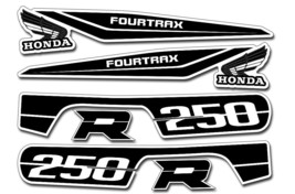 ATV Graphics Kit OEM Decals Replacement Stickers For Honda TRX250R Fourtrax BLK - $52.66
