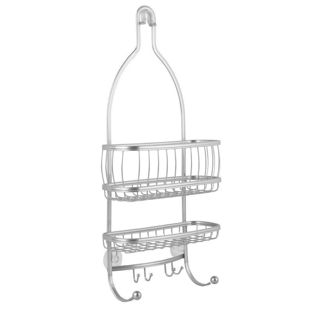 Hanging Bathroom Shower Caddy for Shampoo Conditioner Soap Silver Rush Resist