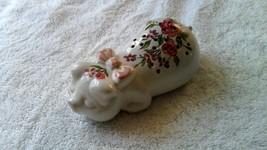 AVON Ceramic Sleeping Pig Potpourri Holder 1978 Hand-Decorated Ceramarte... - $12.38