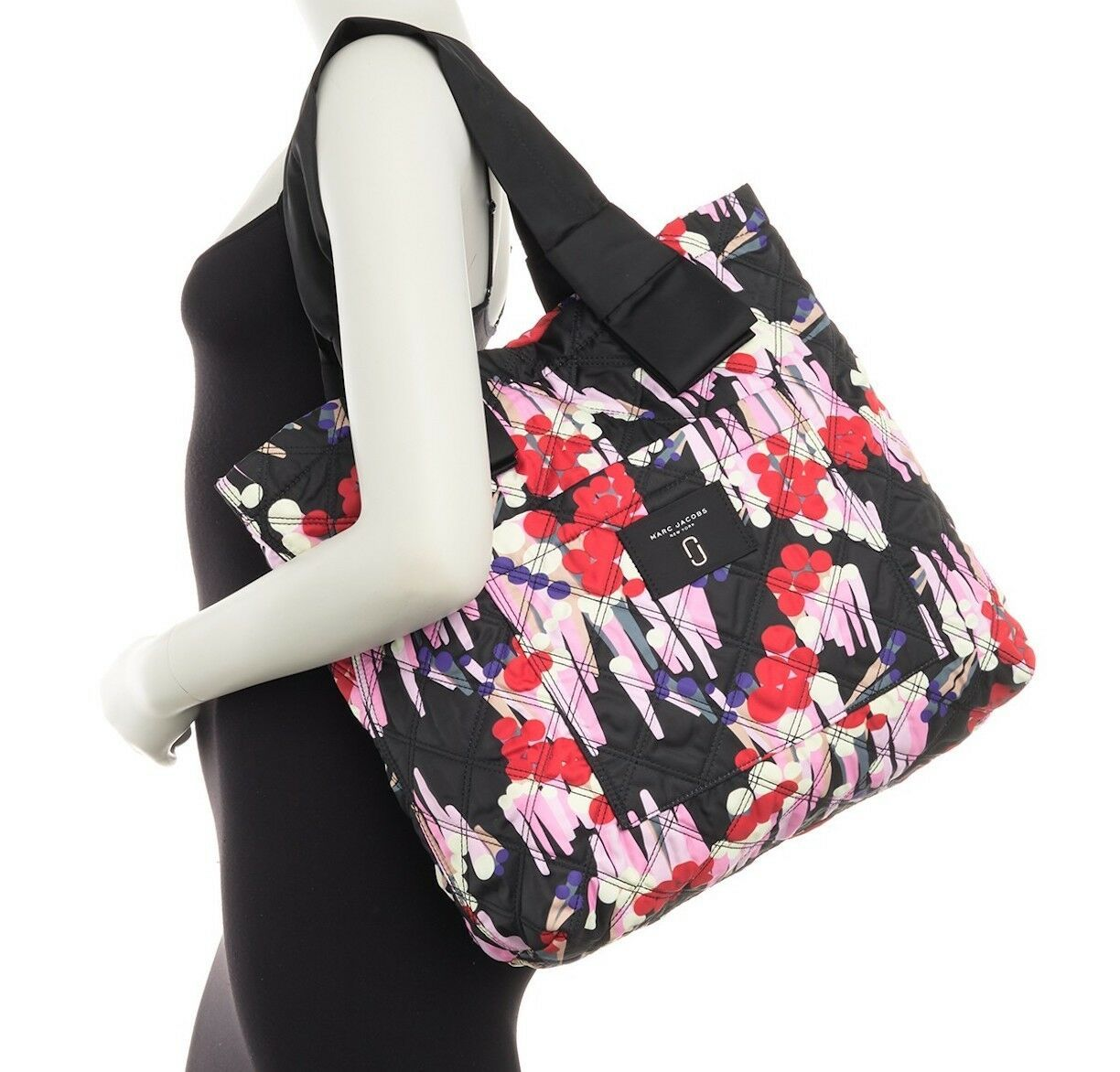 Primary image for Marc Jacobs Bag Quilted Floral Tote NEW