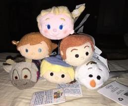 Disney FROZEN Mini Tsum Tsum  Plush Set Anna Elsa Olaf Sven Kristoff Han... - $32.66