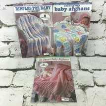 Leisure Arts Baby Afghan Pattern Books Lot of 3 - $19.79