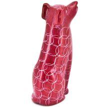 Vaneal Group Hand Carved Kisii Soapstone Sitting Red Puppy Dog Figurine Kenya image 4