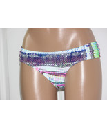 NEW Jessica Simpson Limelight Tribal Print Ruched Side Hipster Bikini Bottom L - $11.08