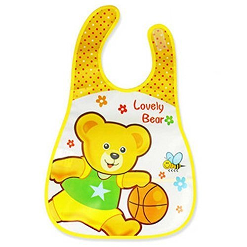 2 Pcs Lovely Bear Showerproof Comfortable Baby Bib /Pinafore For Baby