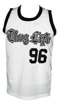 Tupac Shakur #96 Thug Life Custom Basketball Jersey New Sewn White Any Size image 4
