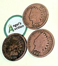 Indian Head Penny 1890, 1891, and 1892 AA20-CNP2125  image 4